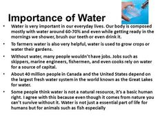 See the source image Importance Of Water, Our Body, Life, Image