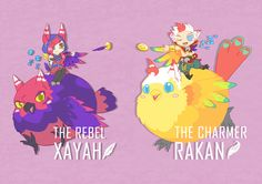 Xayah and Rakan by Bounce-W-T