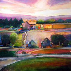 """My Neighbor's House # 536"" Fauve style landscape"