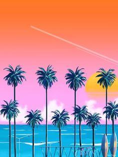 Yoko Honda – this reminds of Miami style graphics. Yoko Honda – this reminds of Miami style graphics. Retro Kunst, Retro Art, 80s Design, 80s Aesthetic, Peach Aesthetic, Miami Vice, Retro Waves, Arte Pop, Miami Fashion