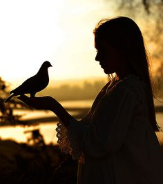 I Love getting close to nature!/ A bird in the hand... by Tina Louise.