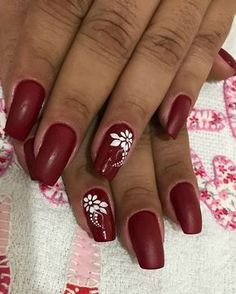 60 Stunning Prom Nails Ideas To Rock On Your Special Day Elegant Nail Designs, Diy Nail Designs, Nail Polish Designs, Beautiful Nail Designs, Burgundy Nails, Red Nails, Really Cute Nails, Almond Acrylic Nails, Flower Nail Art