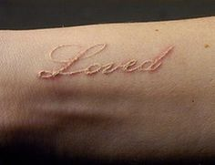"""I would love to do this white ink tattoo with """"I love you"""" in my mom's handwriting."""