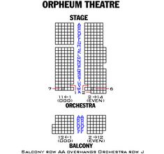 Orpheum Theater Seating Chart Broadway London And F Broadway Seating Charts And Plans 375 352 Seating Charts Theater Seating Chart