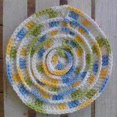 Round N Ridgy Dishcloth ~ free pattern