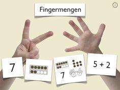 Für die simultane Fingerpräsentation bis 10. In anderen Zahelnräumen natürlich nicht zu gebrauchen ;). Da wäre Fingerzählen unerwüscht. Geschickt den Touchbildschirm genutzt.