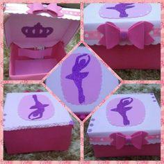 Caixa da bailarina Para organizar as maquiagens, material escolar, rémedios, acessórios...etc