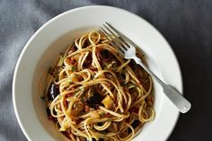 Trying this Spicy Eggplant Pasta as no meat lunch this Wednesday!
