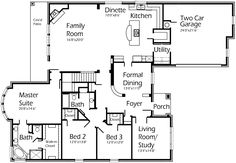 House Plans by Korel Home Designs. 2 stories - I love the open floor plan from the kitchen to the living room.