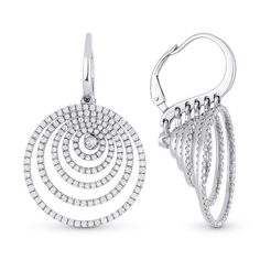 Beautiful Round Swing Style Cocktail Party 925 Sterling Silver Cz Dangle Earring #NIKI #DropDangle
