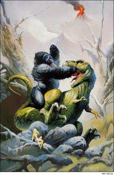 terribletriplefeatures: King Kong by Ken Kelly - logangaiarpg