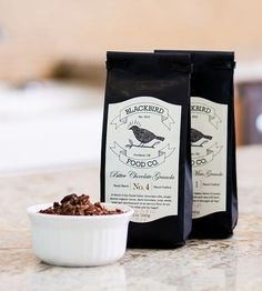 Bitter Chocolate Vegan Granola – Set of 2 by Blackbird Food Co.  on Scoutmob Shoppe