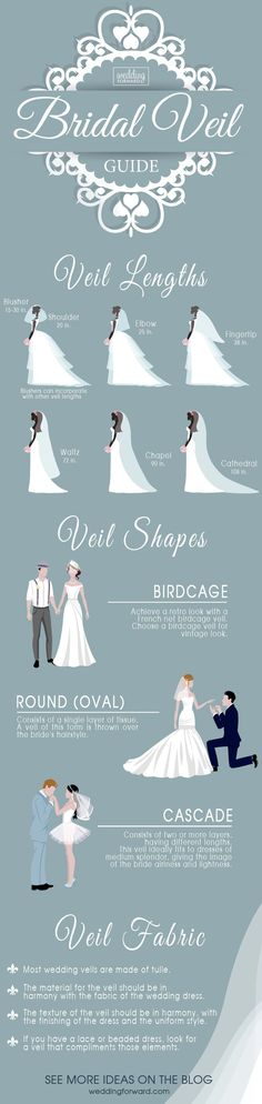 12 Wedding Dress Infographics To Make Your Shopping Easier ❤️ The most useful wedding dress infographics that will help you to make the right choice. Bridal veil guide. See more: http://www.weddingforward.com/wedding-dress-infographics/ #wedding #dresses #infographics #weddingplanninginfographic