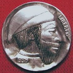 DAVE BOULAY HOBO NICKEL - 1936 BUFFALO PROFILE Hobo Nickel, Buffalo, Classic Style, Coins, Carving, Profile, The Originals, Artist, User Profile
