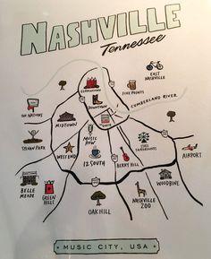 How to spend a weekend in Nashville Nashville Map, Weekend In Nashville, Nashville Vacation, Music City Nashville, Tennessee Vacation, Nashville Attractions, Nashville Murals, Bluebird Cafe Nashville, Nashville Restaurants