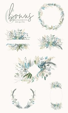 Foliage + Foil - Botanical Clipart by The Autumn Rabbit Ltd on Floral Illustrations, Illustration Sketches, Digital Illustration, Graphic Illustration, Fantasy Illustration, Illustrations Posters, Design Art Drawing, Leaf Drawing, Graphic Design Art