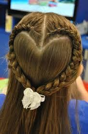 heart braid for a little girls Valentines Day hair! I will have to bribe Kayla with buckets of chocolate to do this.Perfect heart braid for a little girls Valentines Day hair! I will have to bribe Kayla with buckets of chocolate to do this. Pretty Hairstyles, Braided Hairstyles, Wedding Hairstyles, Brunette Hairstyles, Funky Hairstyles, Updos Hairstyle, Hairstyle Tutorials, Amazing Hairstyles, Heart Hairstyles