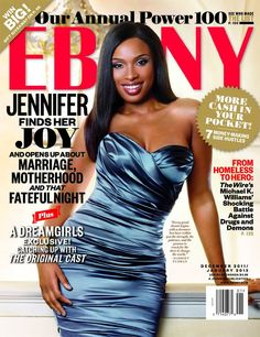 Jennifer Hudson looks gracious on the cover of Ebony Magazine's January 2012 issue. In a ruched blue cocktail dress, the actress shows off h. V Magazine, Ebony Magazine Cover, Black Magazine, Magazine Covers, Jennifer Hudson, Vanity Fair, Marie Claire, Cosmopolitan, Dark Man