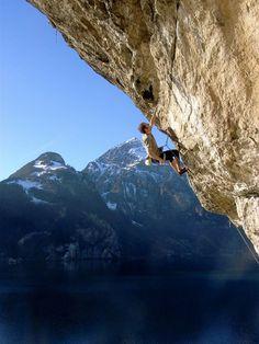 Lake Lucerne rock formations in Uri, Switzerland