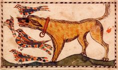 """Nov. 4th. 2008 ~ """"I love this thing,"""" Ron Pook said as he sold lot 68, a vibrant Southeastern Pennsylvania watercolor fraktur bookplate dating from the early Nineteenth Century. It measures 2¾ by 4½ inches and depicts a dog chasing four birds. It had a presale estimate of $3/4,000, and apparently it was loved by others, as it sold for $25,740"""