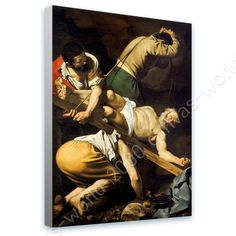 Ready To Hang Canvas Crucifixion Of Saint Peter Caravaggio Framed Print Giclee