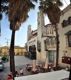Cadiz Teatro Villamarta Plaza Panoramica Jerez