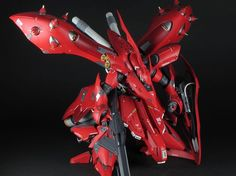 One of the gigantic mobile suit which has been appeared on Mobile Suit Gundam Unicorn this is RE Nightingale by sat . A remodeled of RE. Custom Paint Jobs, Custom Decals, Gundam Model, Nightingale, Mobile Suit, Detail, Building, Anime, Game Room
