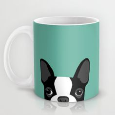 Boston Terrier Mug by Anne Was Here | Society6