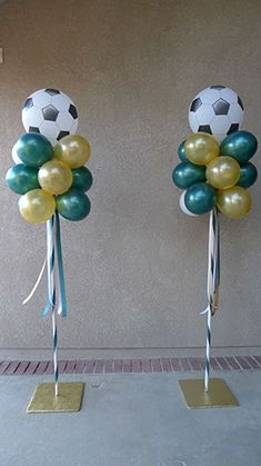 Soccer Themed Party Poles