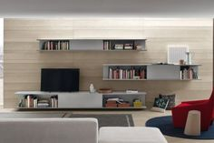 The name of this photo is Modern Living Room Wall Units. It is literally just one of the several fine graphic samples in the post titled Living Room Wall Units. Living Room Wall Units, Design Living Room, Living Room Shelves, Wall Bookshelves, Book Shelves, Latest Wall Unit Designs, Modern Wall Units, Modern Tv, Modern Living