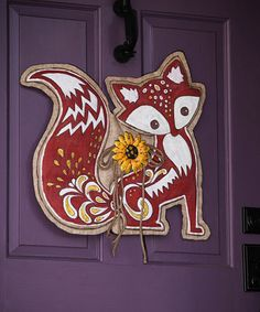 Look at this Whimsical Fox Outdoor Wall Décor on #zulily today!