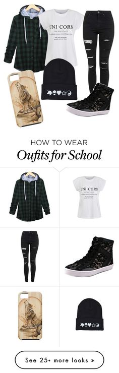 """School"" by emmylifts on Polyvore featuring Ally Fashion, Topshop, Rebecca Minkoff, women's clothing, women's fashion, women, female, woman, misses and juniors"