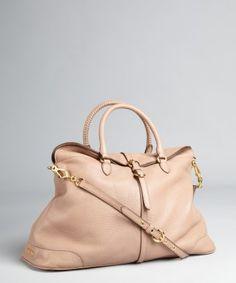 Miu Miu : nude pebbled leather convertible bag : $1515.00 (orig: 1895.00)