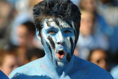 Paint yourself Blue and run with the Tarheels!