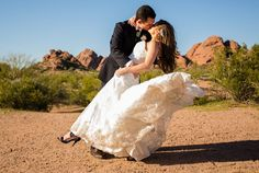 Another happy bride at Tempe Mission Palms!  Photo credit: La Brisa Photography