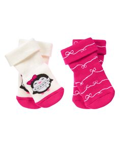 Penguin & Ribbon Socks Two-Pack
