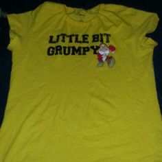 Yellow T-shirt Yellow T-shirt with the picture of Grumpy from Snow White. disney Tops Tees - Short Sleeve