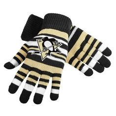 Pittsburgh Penguins NHL Hockey Team Logo Stretch Gloves