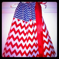 "Selling this ""Patriotic Chevron Pillowcase Dress"" in my Poshmark closet! My username is: kadence_kloset. #shopmycloset #poshmark #fashion #shopping #style #forsale #Kid boutique #Dresses & Skirts"