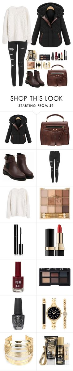 """""""Romwe 10"""" by amra-f ❤ liked on Polyvore featuring Topshop, MANGO, Chanel, NARS Cosmetics, OPI, Style & Co., WithChic, 1d, romwe and 5sos"""