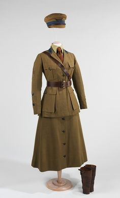 Woman's uniform for the Motor Corps of America, c. 1916-1918.  The Motor Corps was a woman's first opportunity to serve in the US Armed Forces in a position other than nursing. Women from the Motor Corps served as drivers of ambulances and other vehicles both at home and abroad.