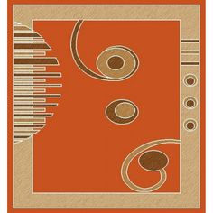 contemporary 725 orange x 8 ' rug Clearance Rugs, Contemporary Rugs, Outdoor Rugs, Orange, Transitional Outdoor Rugs, Modern Rugs