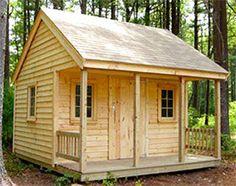 New England Shed & Barn - Kingston, MA, United States. Cabin Style Shed Backyard House, Backyard Sheds, Garden Sheds, Porch Garden, Modular Home Builders, Modular Homes, Modular Housing, Shed Homes, Log Homes