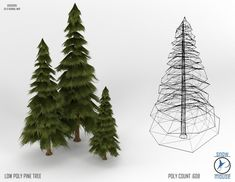 Low Poly Pine by TheSnowMouse.deviantart.com on @deviantART