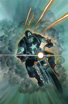 Alex Ross- Captain America in Steve M's Alex Ross- Paintings Comic Art Gallery Room Marvel Comics, Marvel Comic Books, Marvel Art, Marvel Characters, Marvel Heroes, Comic Books Art, Marvel Avengers, Poster Marvel, Secret Avengers