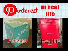 Pinterest in Real Life - Filing Cabinet Transformation - YouTube