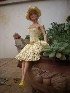 le mie barbie all'uncinetto