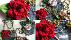 How to make an easy fabric flower come realizzare un fiore in tessuto ed...
