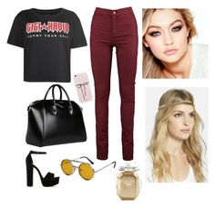 """""""Gigi Hadid tour"""" by erlitapd ❤ liked on Polyvore featuring Tommy Hilfiger, Maybelline, Steve Madden, Givenchy, Tasha, Spitfire and Victoria's Secret"""