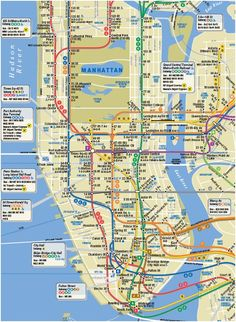17 Best Maps of Walking Tours images | Maps, Map of manhattan